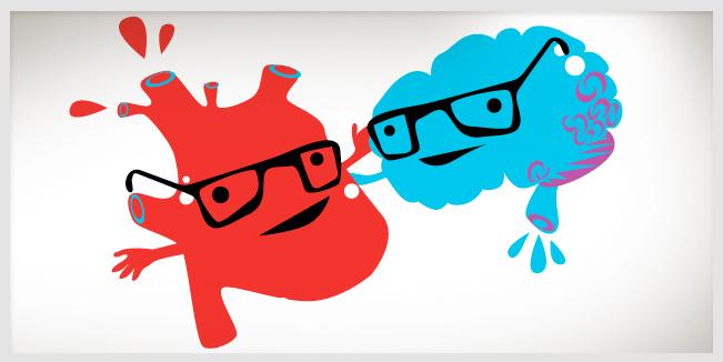 Corazón tiene cerebro.