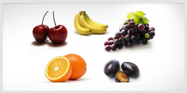 Aporte nutricional de las frutas según su color