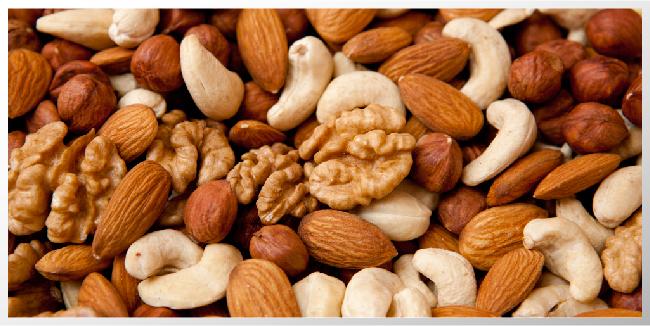 nueces altas en calorias y nutrientes buenos