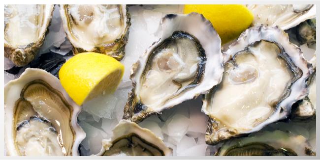 Las ostras B.C. de vuelta al menú.