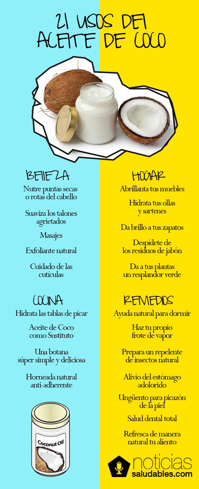 21 Usos Del Aceite De Coco Noticias Saludables