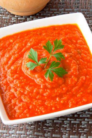 salsa roja de tomate